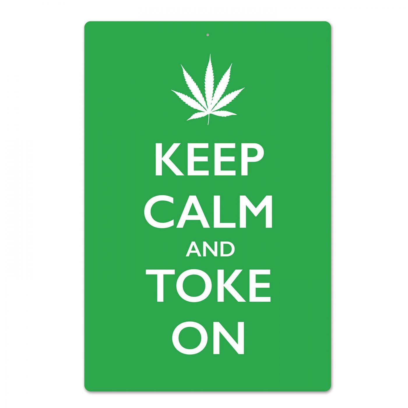 Keep Calm & Toke On Sign image