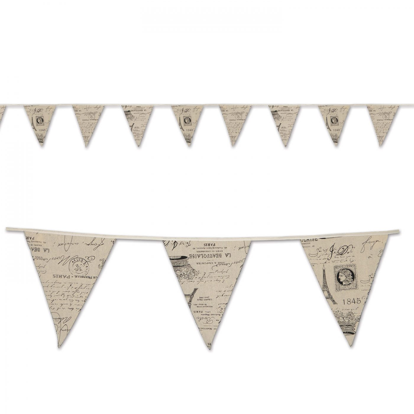 French Fabric Pennant Banner image