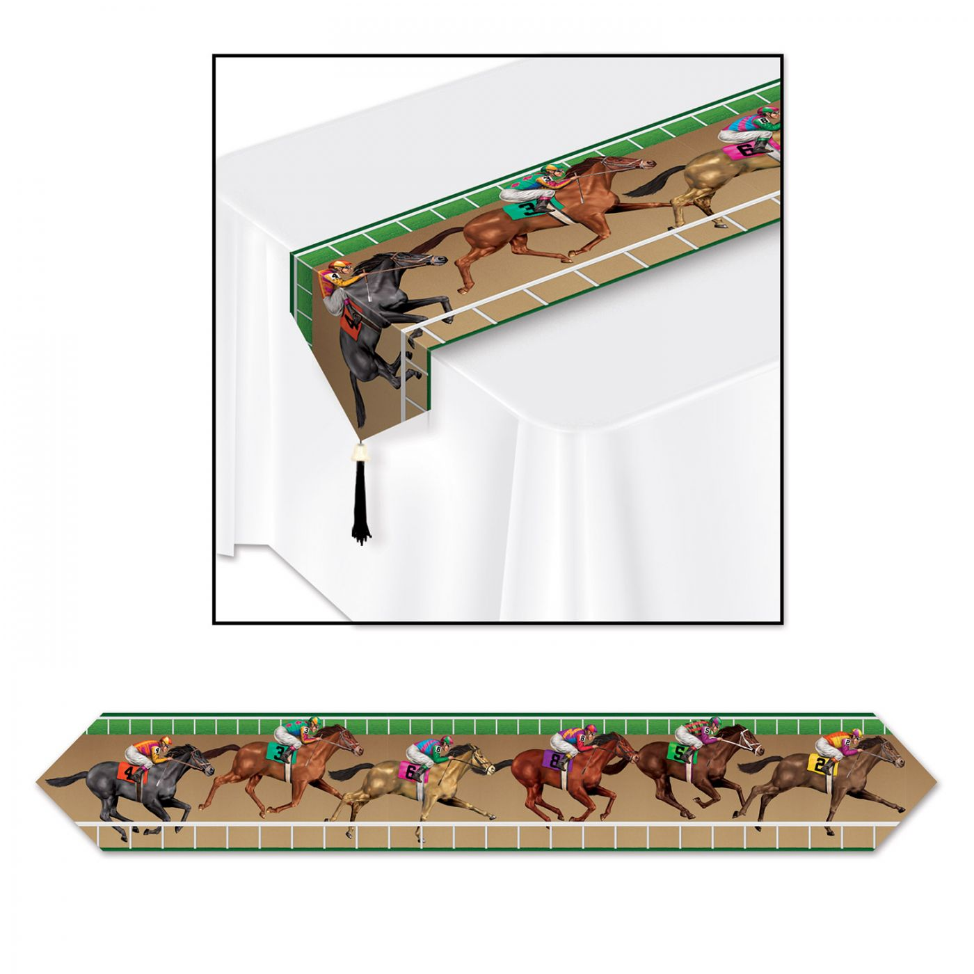Printed Horse Racing Table Runner image