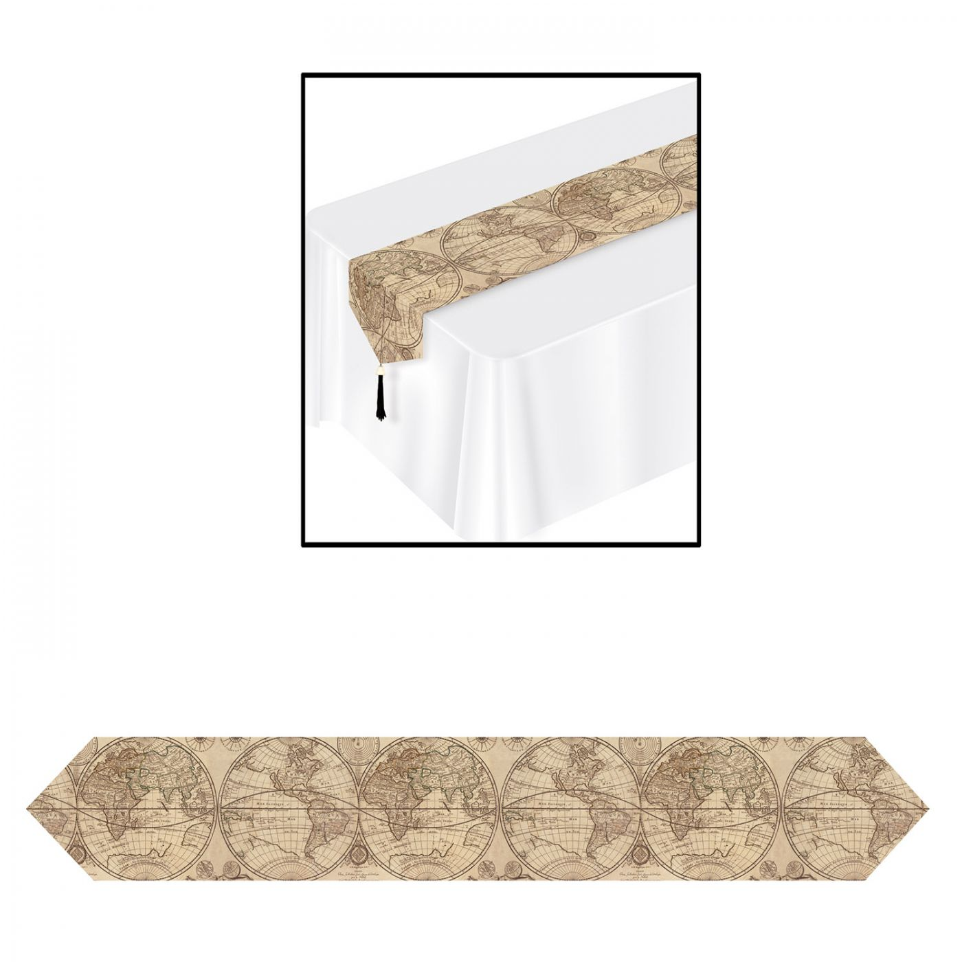 Printed Around The World Table Runner image
