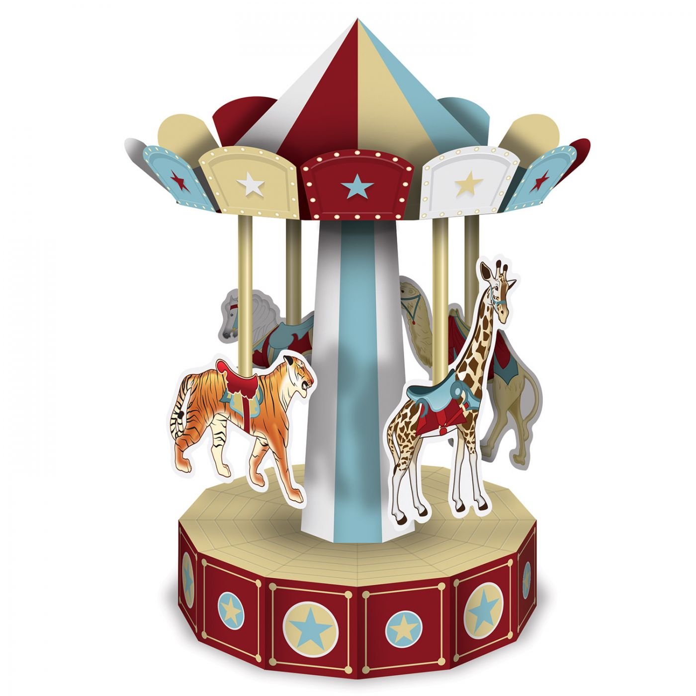 Image of 3-D Vintage Circus Carousel Centerpiece