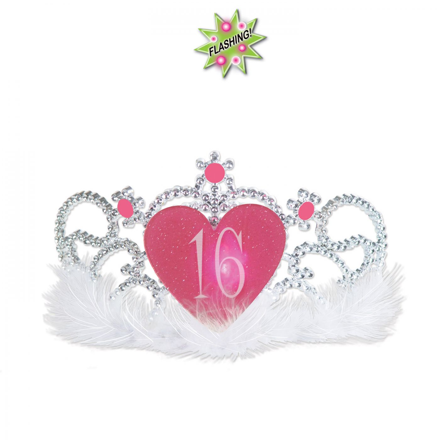 Plastic Light-Up  16  Tiara (6) image