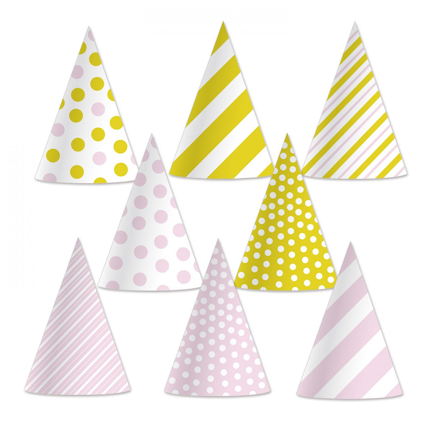 Pink & Gold Cone Hats image
