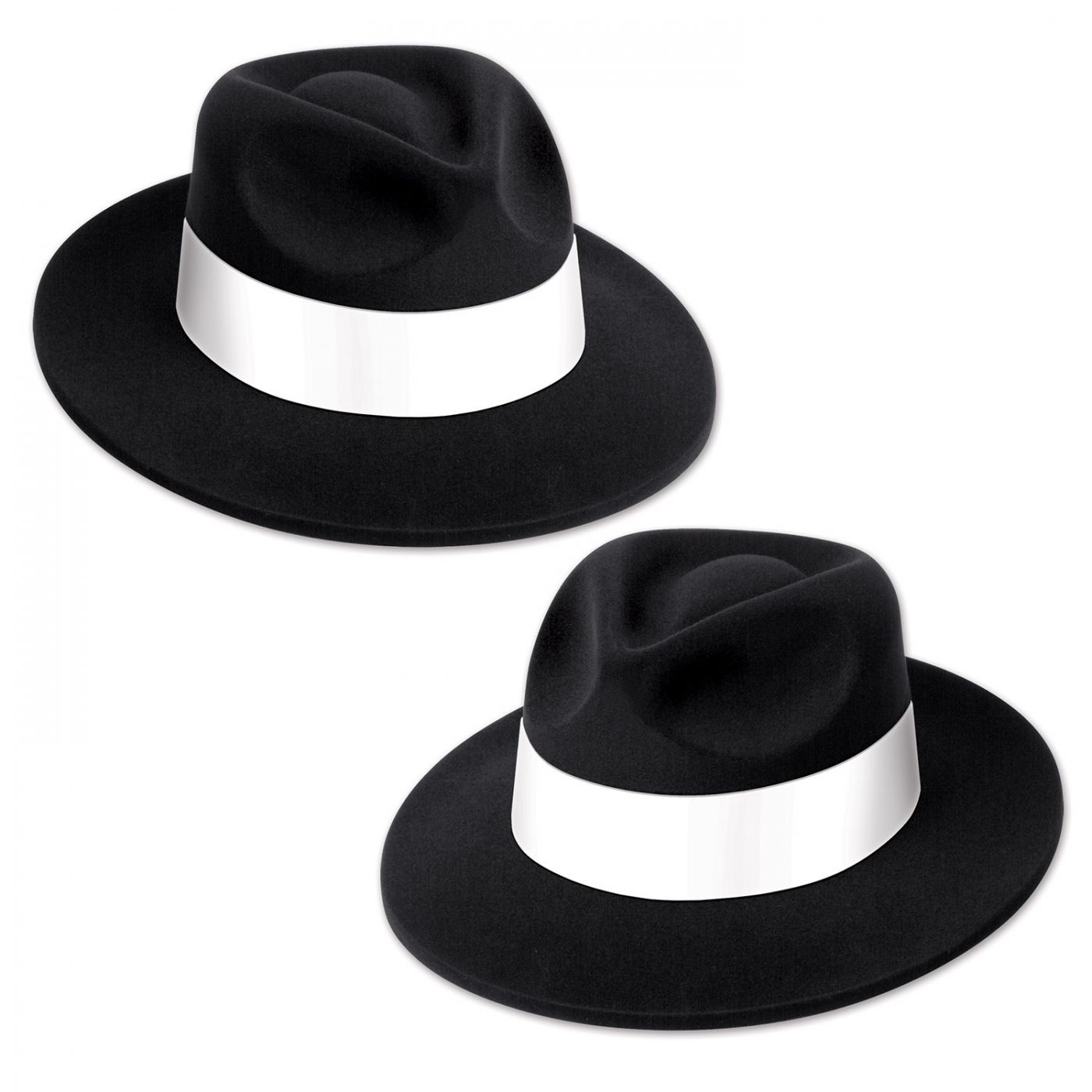 Black Velour Fedora w/Band (25) image