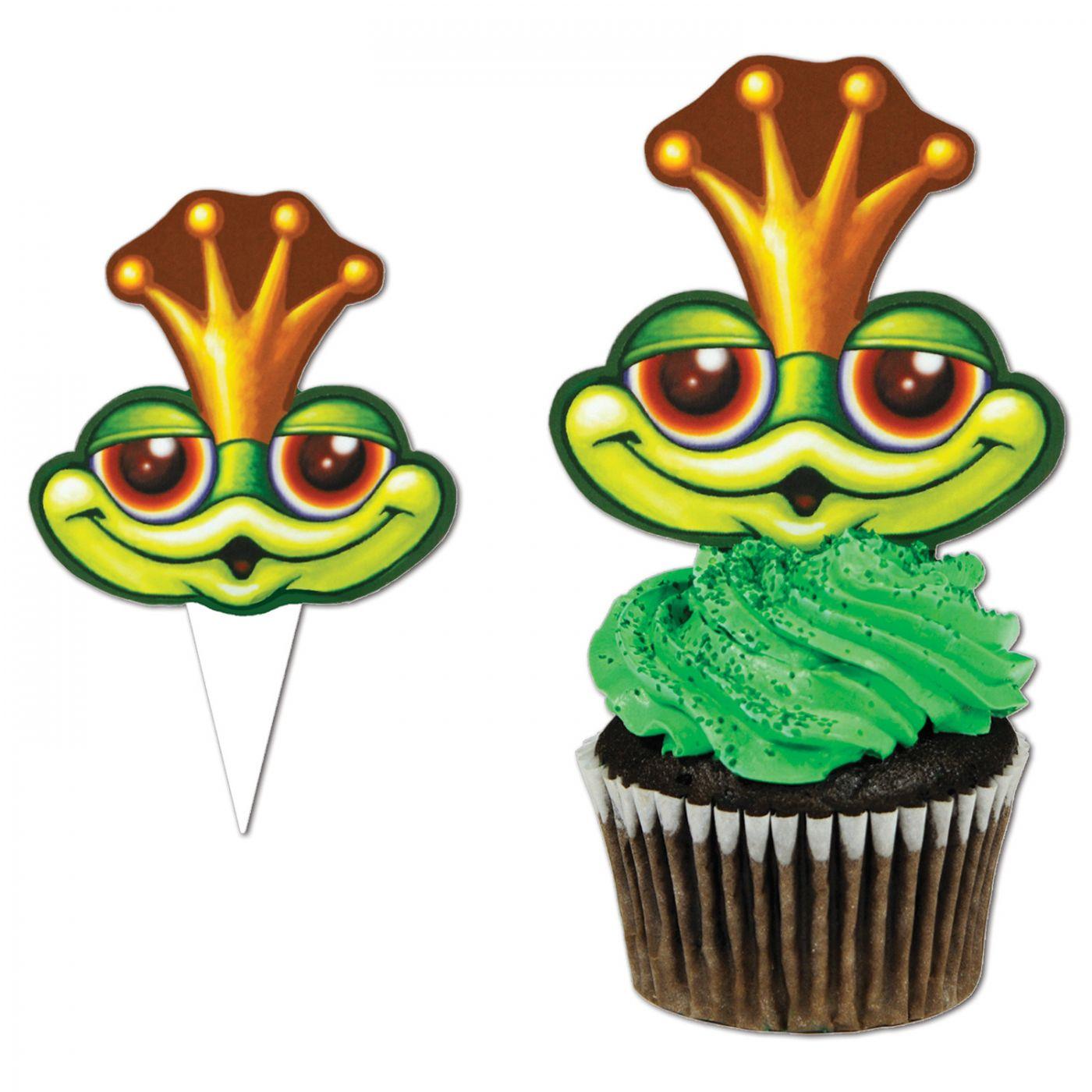 Frog Cupcake Picks image