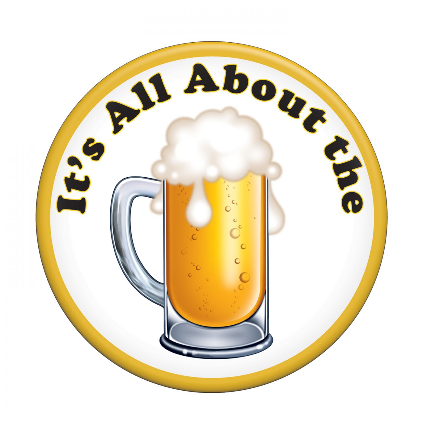 It's All About The Beer Button image