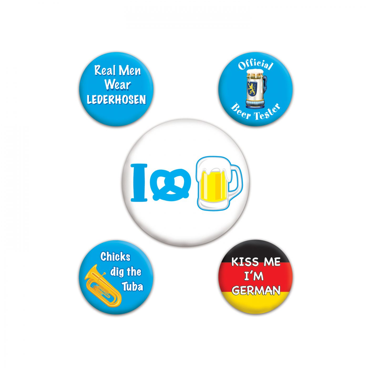 Oktoberfest Party Buttons image