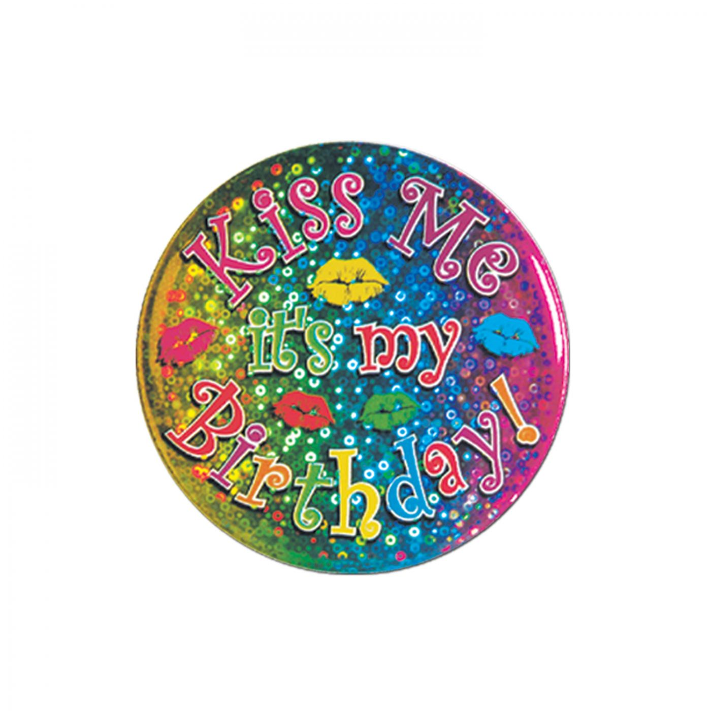 Kiss Me It's My Birthday! Button image