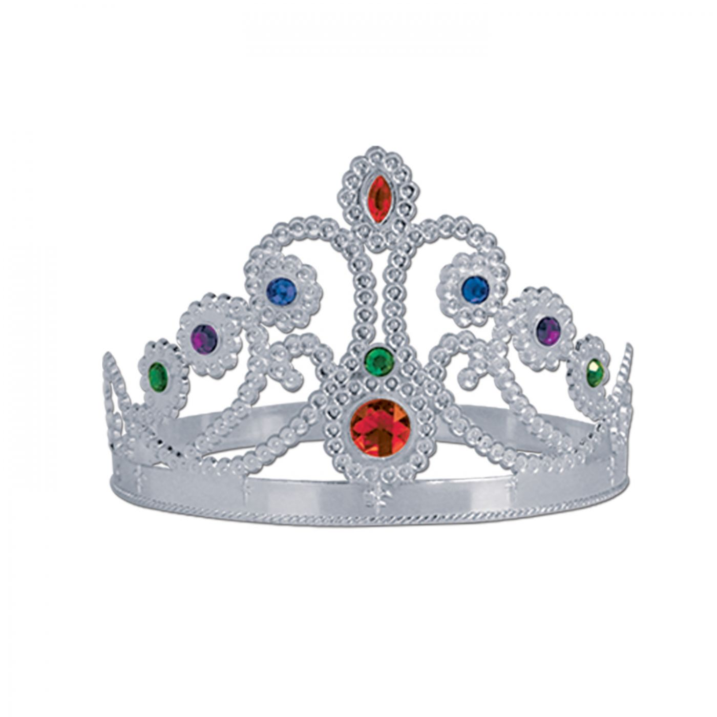 Plastic Jeweled Queen's Tiara image