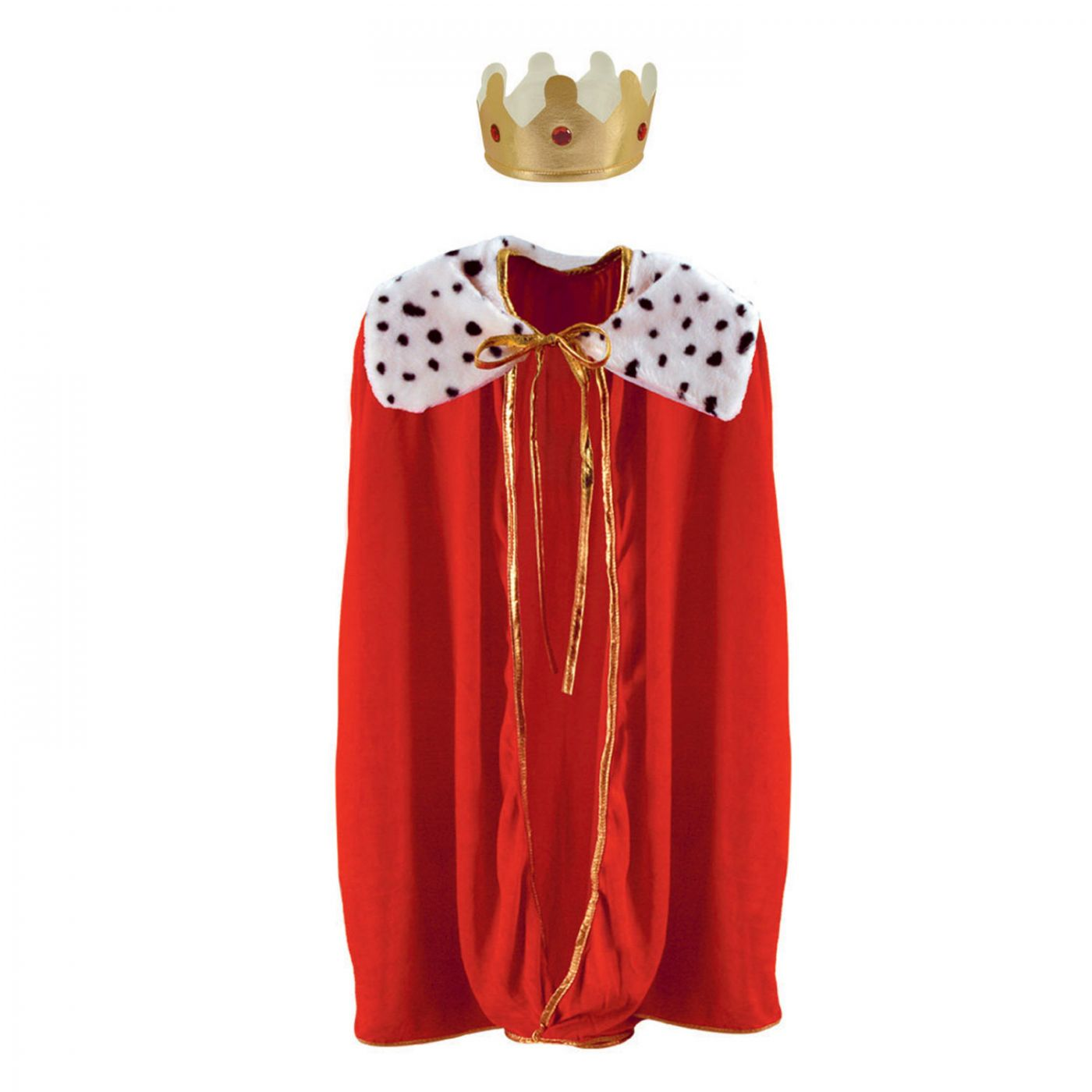 Image of Child King/Queen Robe w/Crown (1)