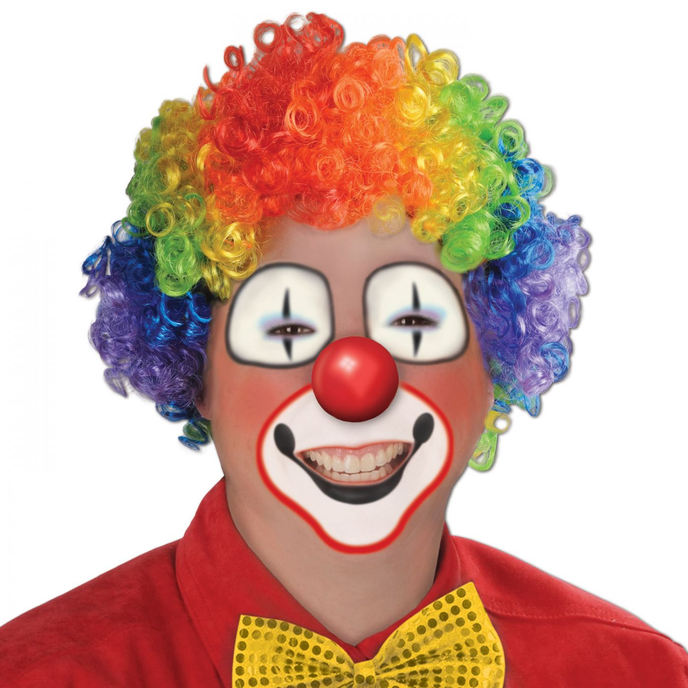 Rainbow Clown Wig image