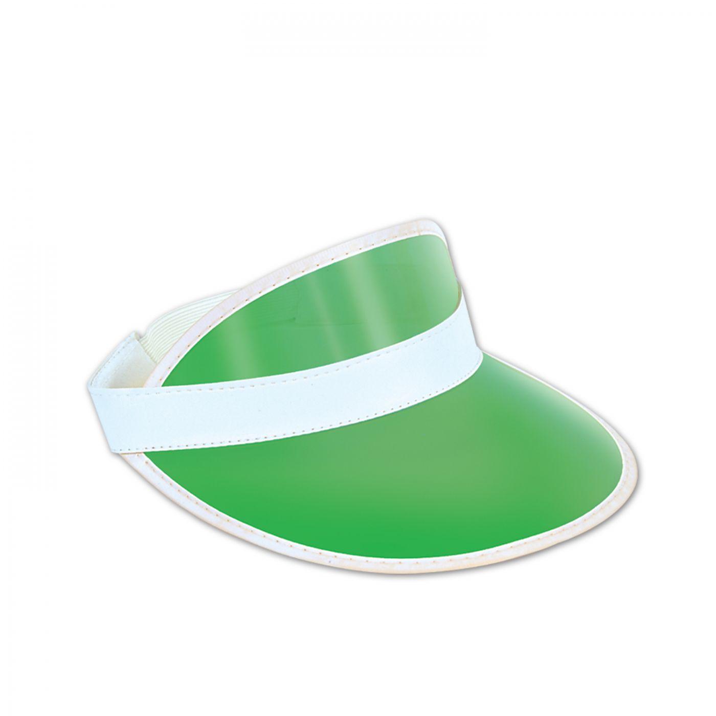 Clear Green Plastic Dealer's Visor image