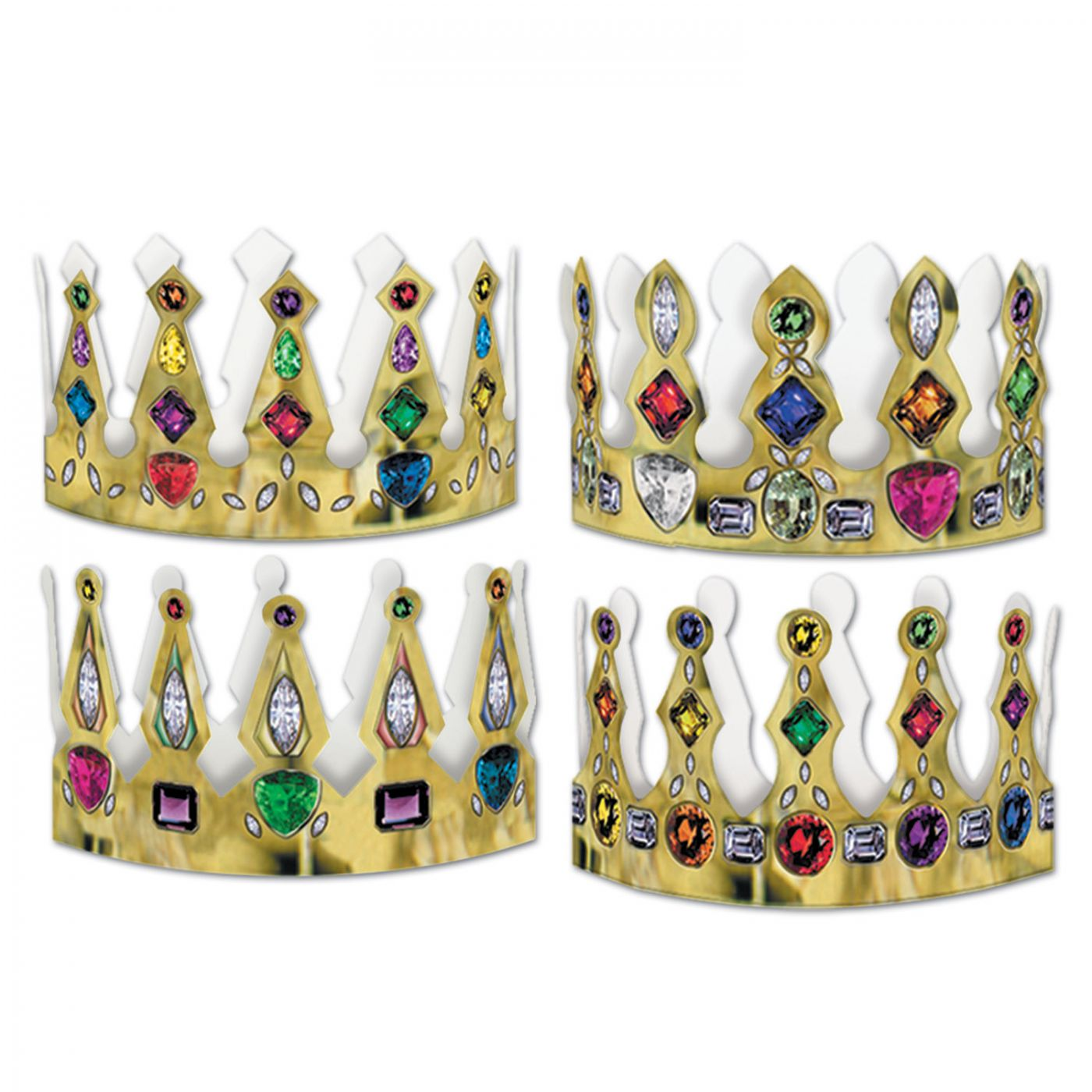 Pkgd Printed Jeweled Crowns image