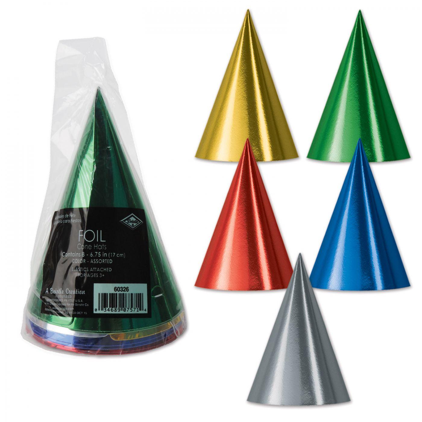 Pkgd Foil Cone Hats image