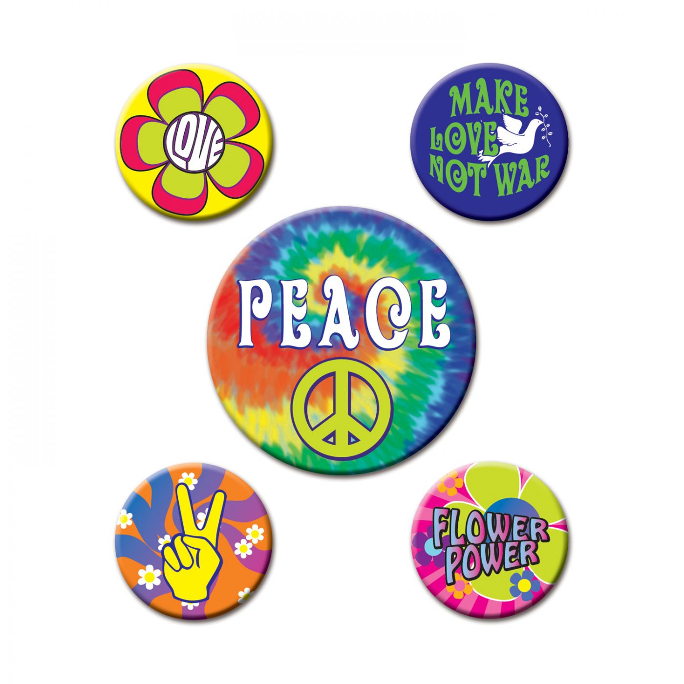 60's Party Buttons image
