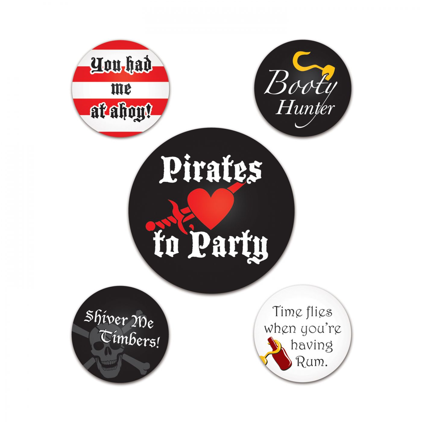 Pirate Party Buttons image