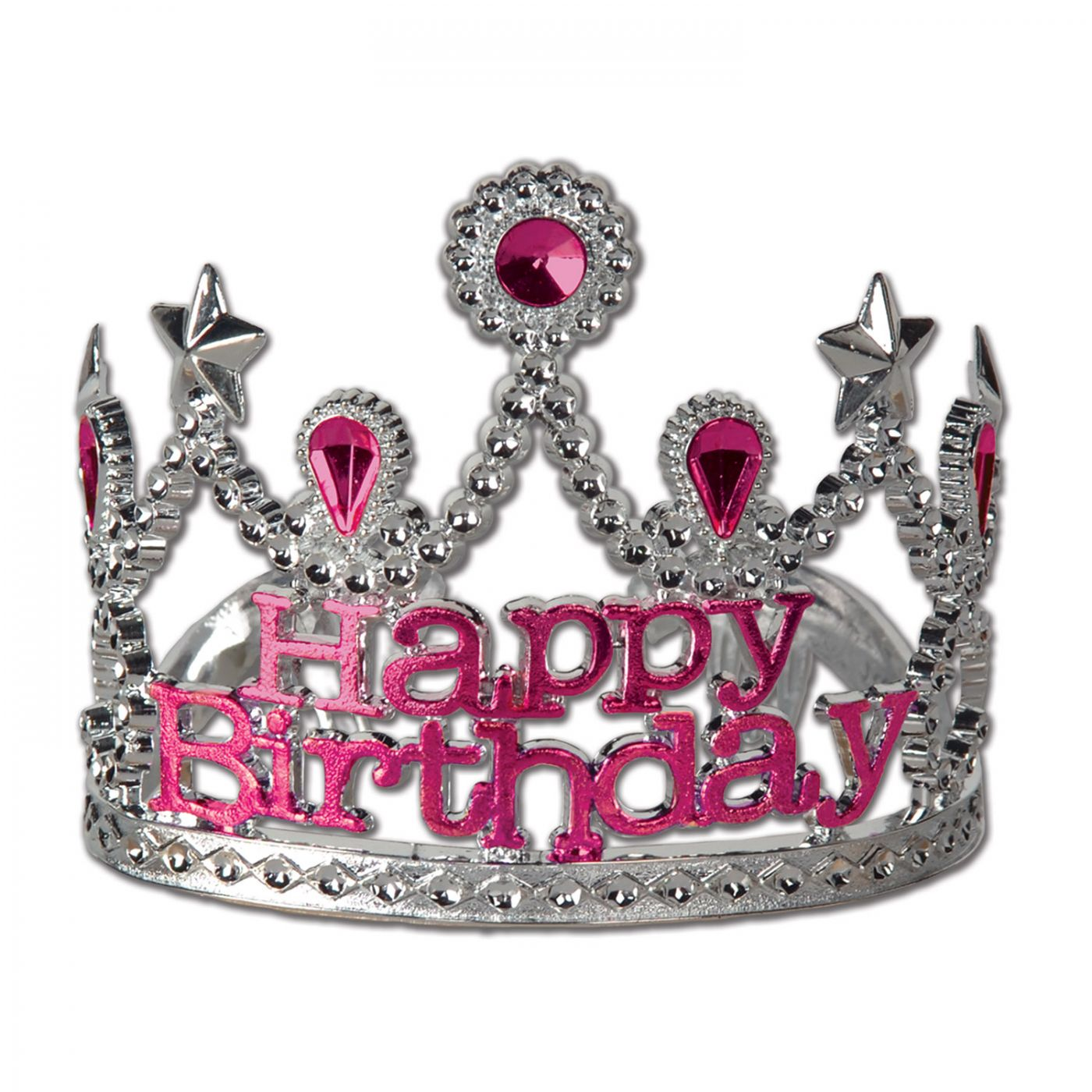 Plastic Happy Birthday Tiara image
