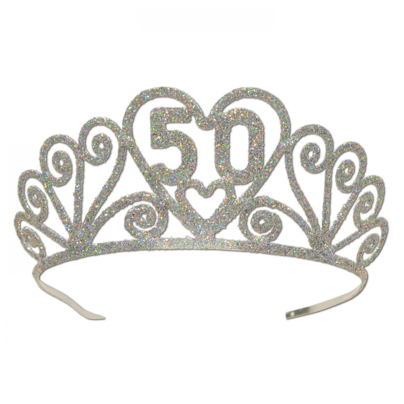 Glittered Metal  50  Tiara (6) image