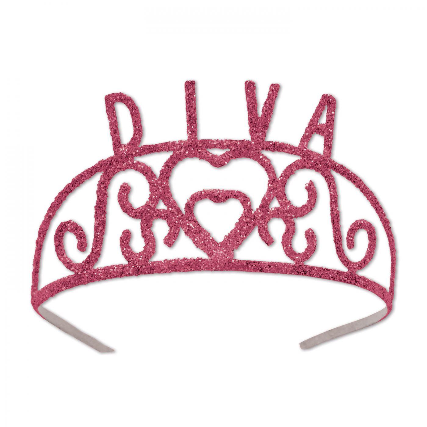 Glittered Metal Diva Tiara (6) image