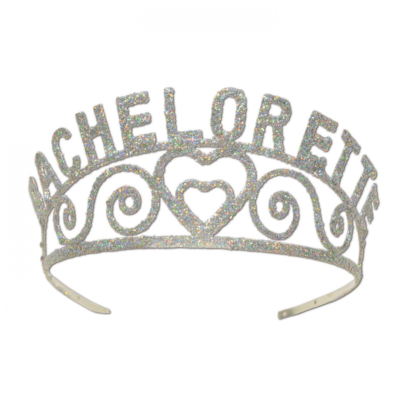 Glittered Metal Bachelorette Tiara (6) image