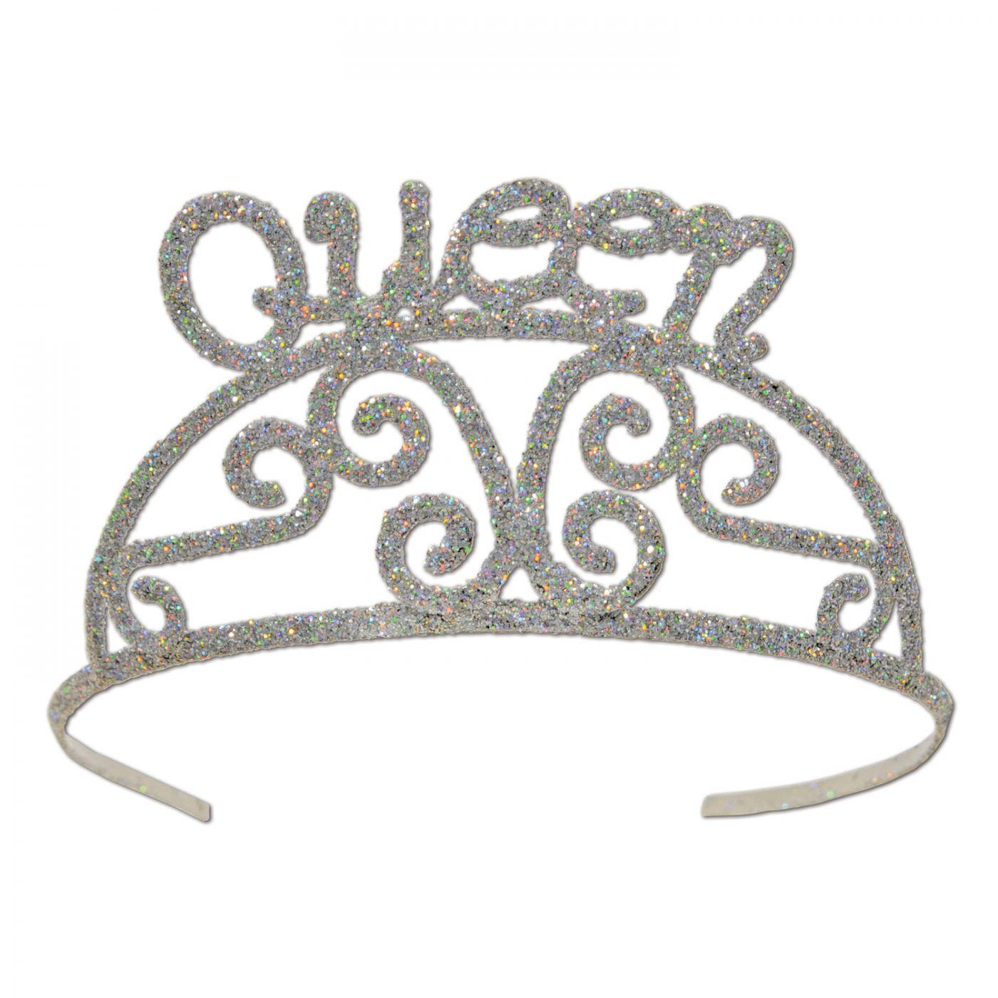 Glittered Metal Queen Tiara (6) image