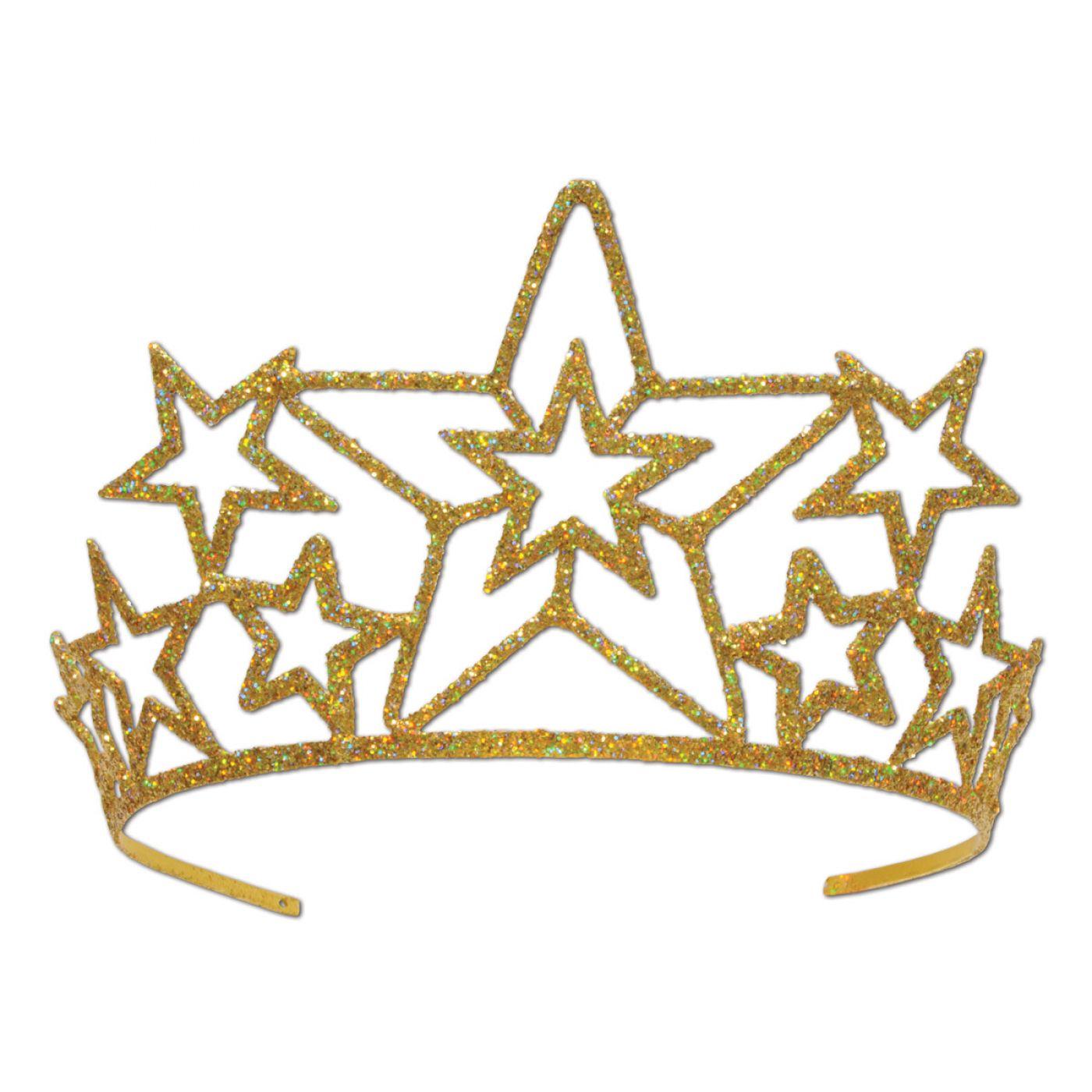 Glittered Metal Star Tiara (6) image