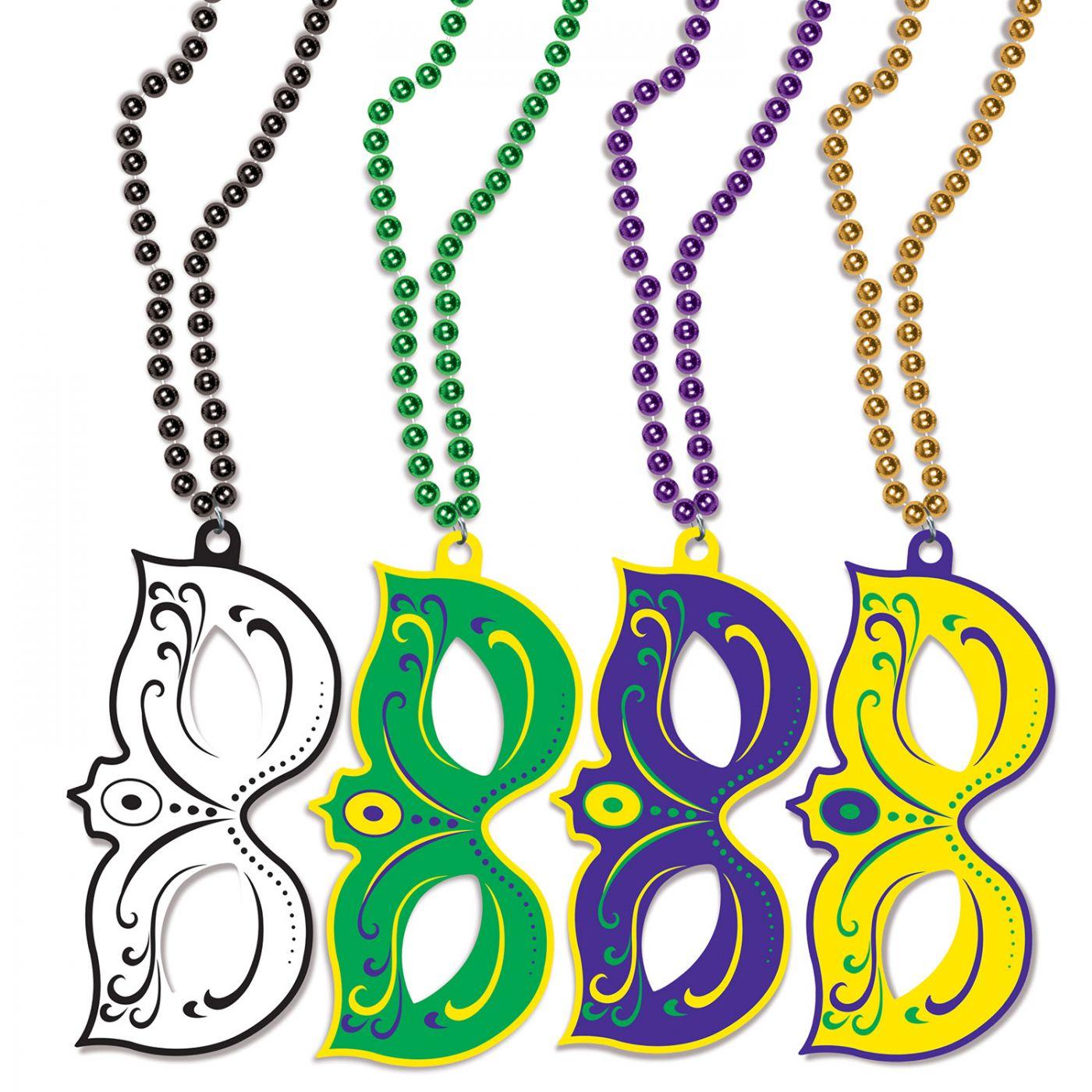 Mardi Gras Masks w/Beads image