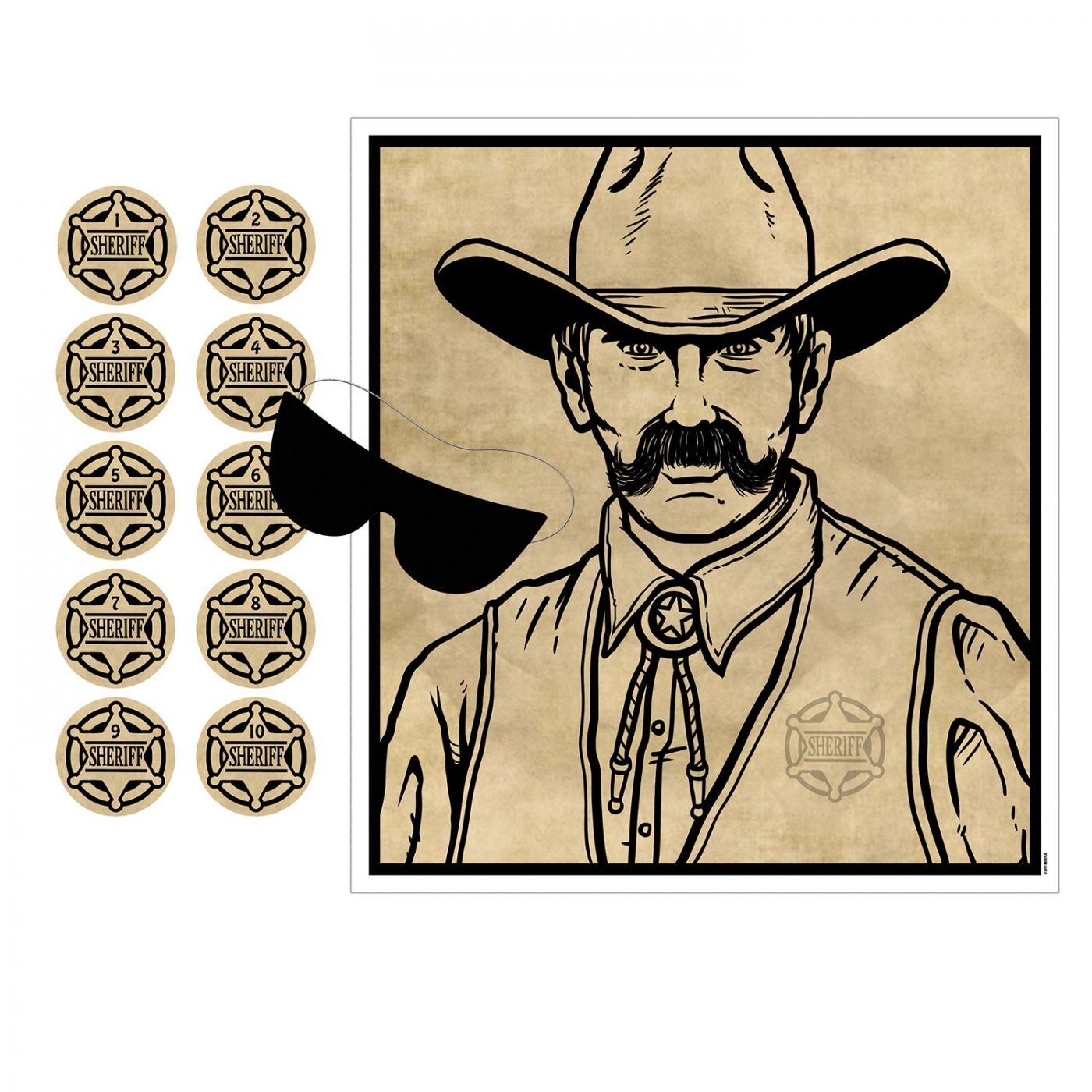 Pin The Badge On The Sheriff Game (24) image