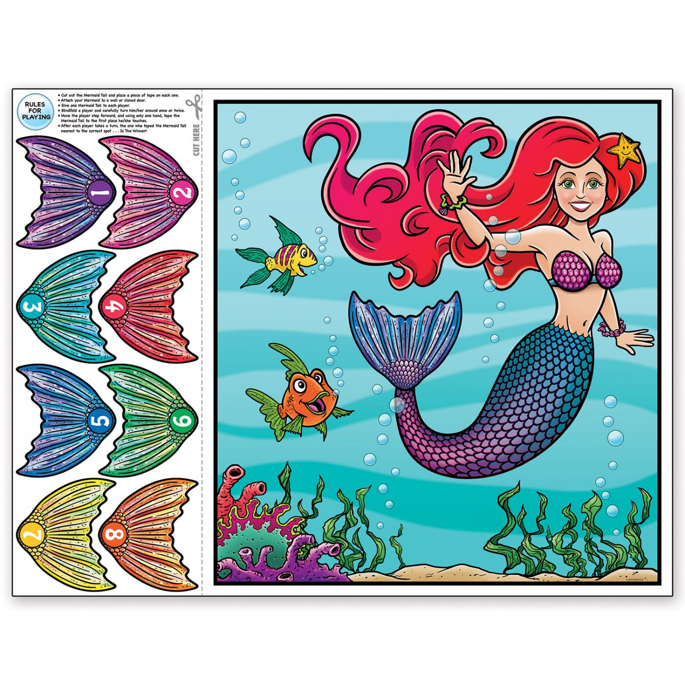 Pin The Tail On The Mermaid Game (24) image