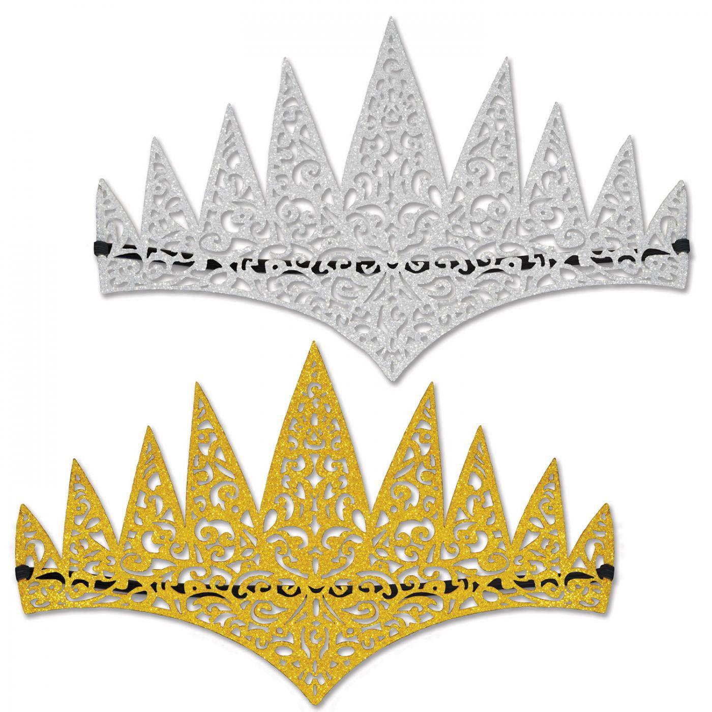 Glittered Laser Cut Tiaras image