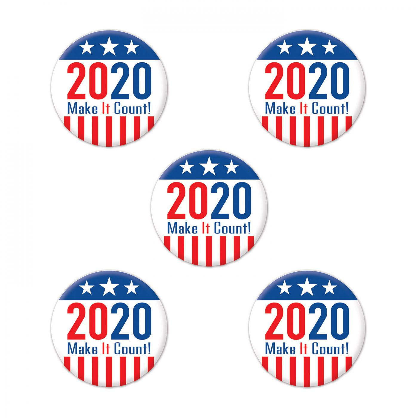 Image of  2020  Make It Count! Party Buttons
