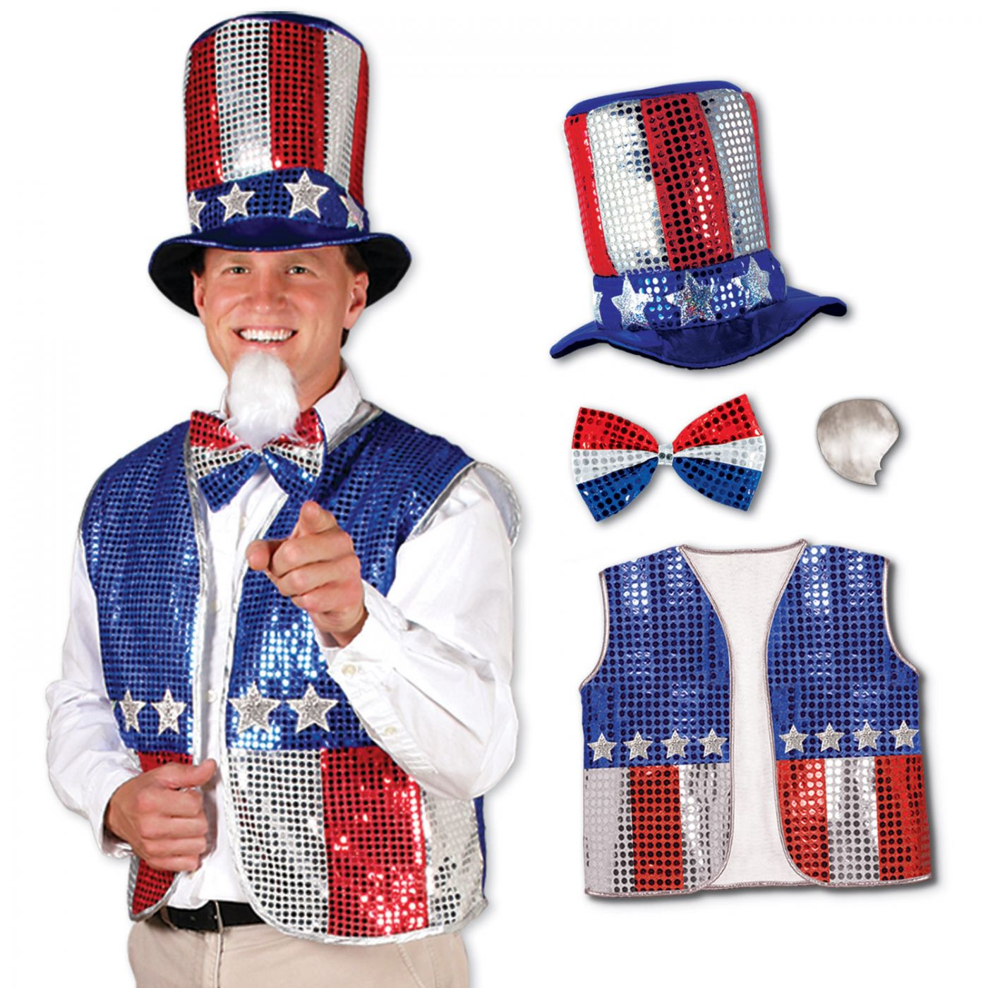 Sequined Uncle Sam Set (1) image
