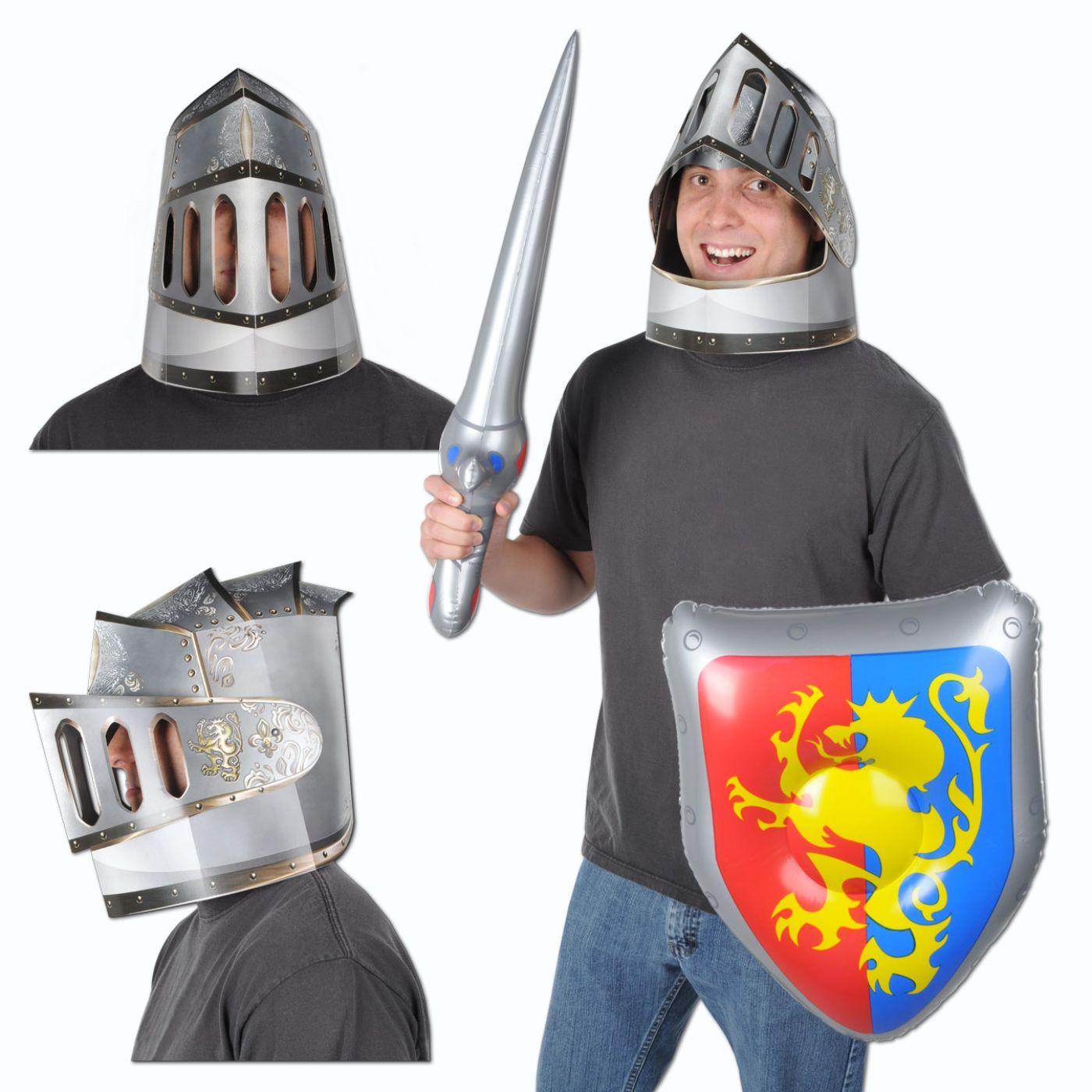 Paperboard Knight's Helmet image