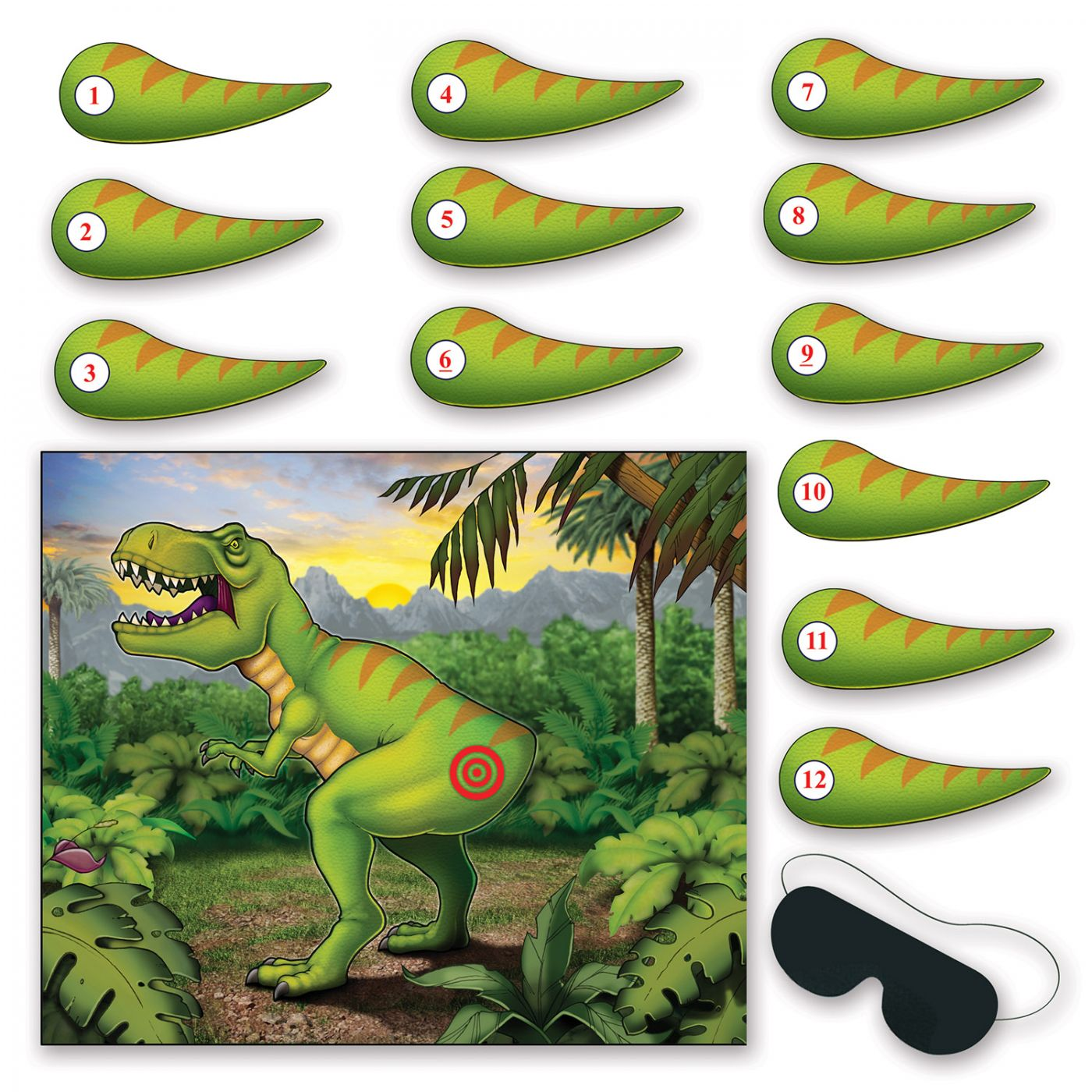 Pin The Tail On The Dinosaur Game (24) image