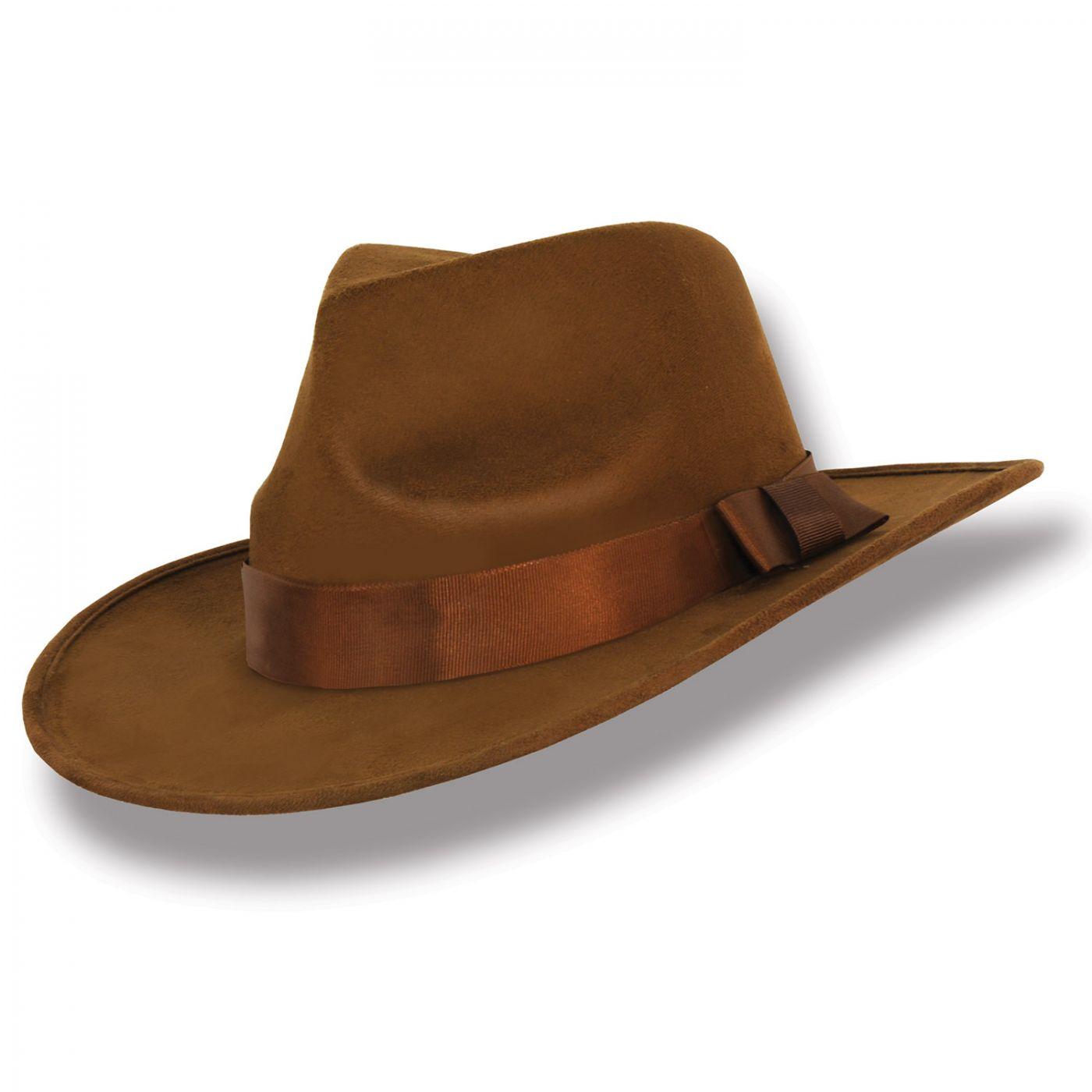 Brown Fabric Fedora Hat (6) image
