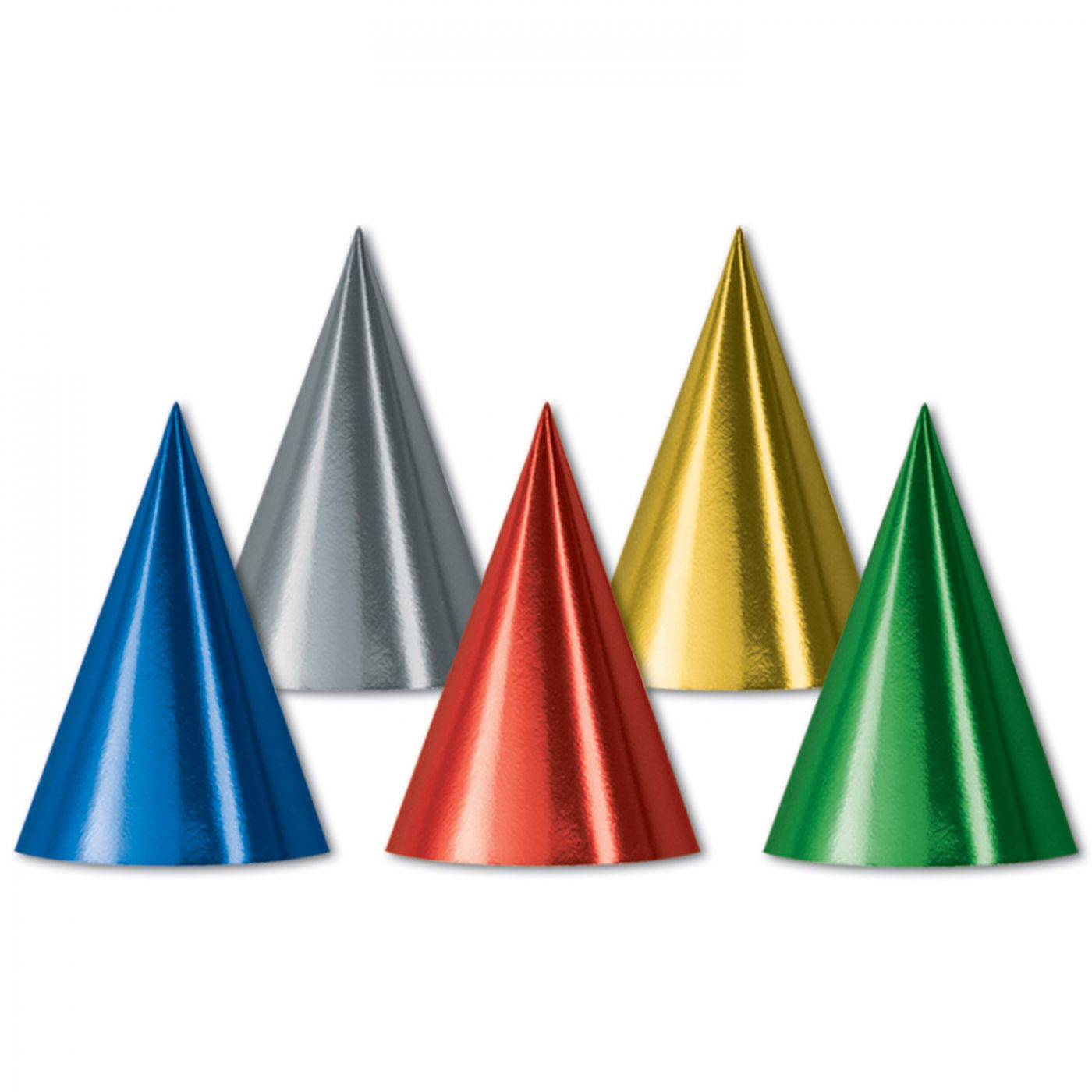Foil Cone Hats (144) image