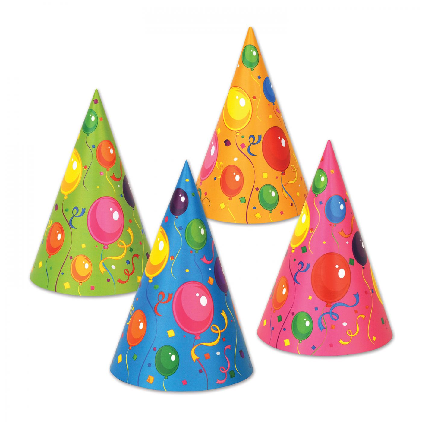Fluorescent Cone Hats (144) image