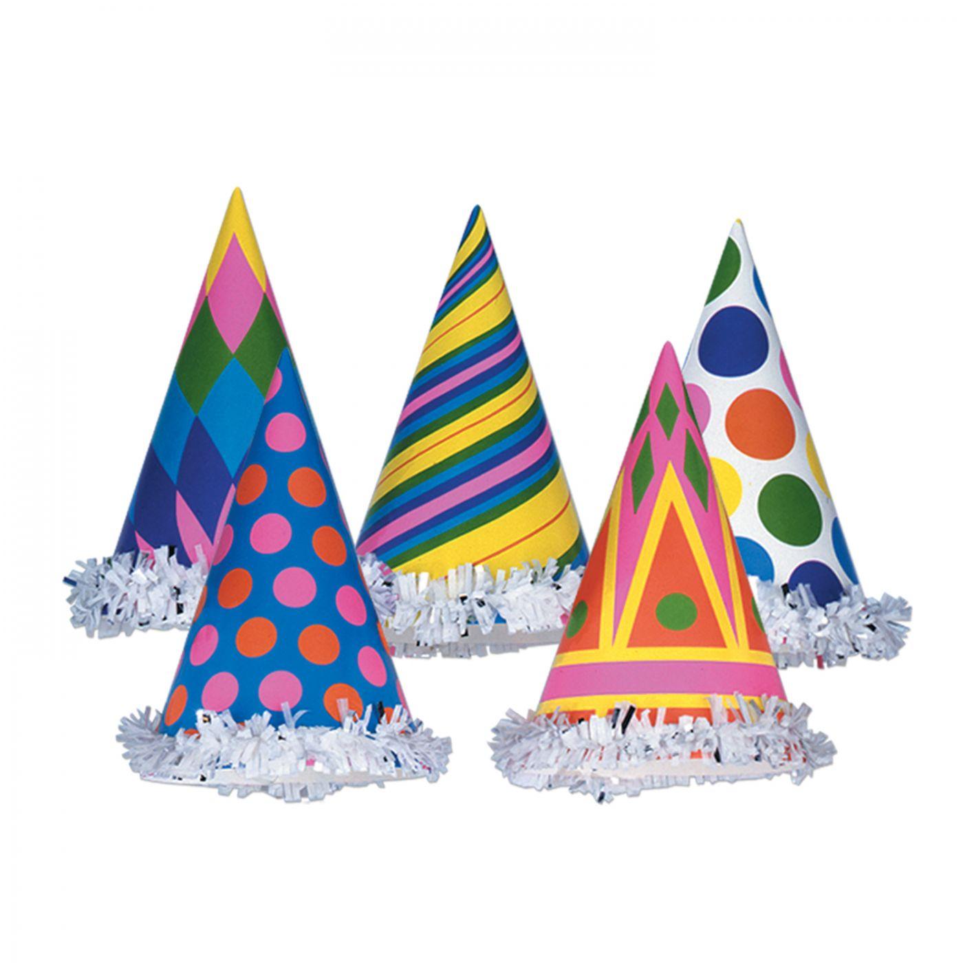 Fringed Cone Hats (144) image