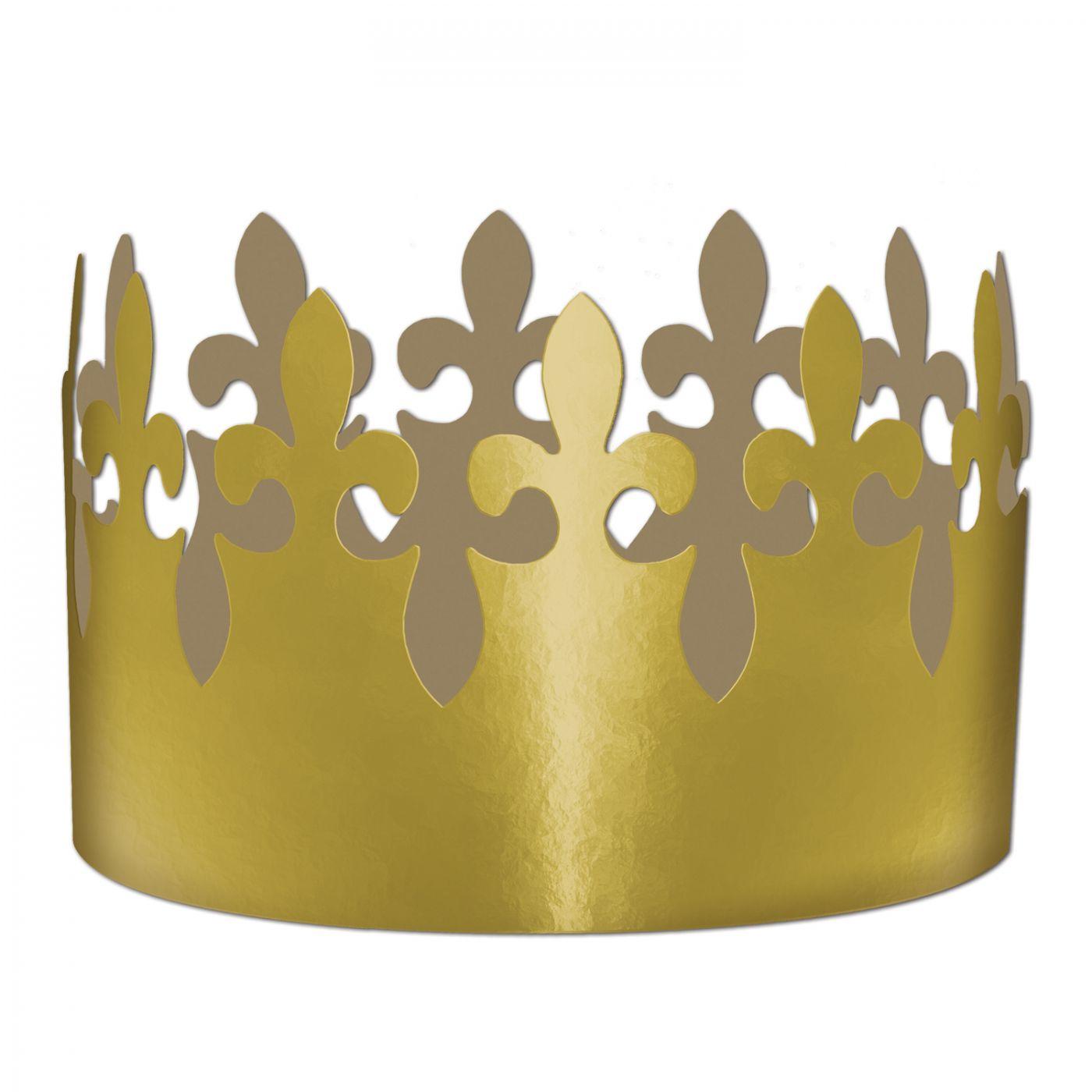 Gold Foil Fleur De Lis Crown (72) image