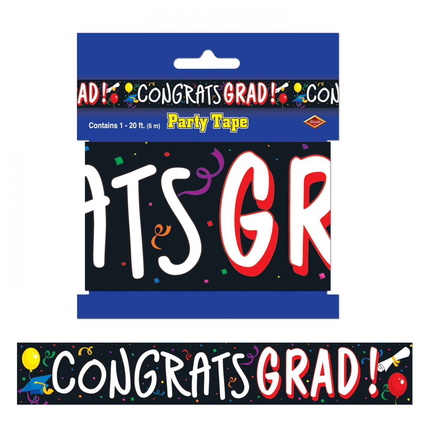 Congrats Grad Party Tape image