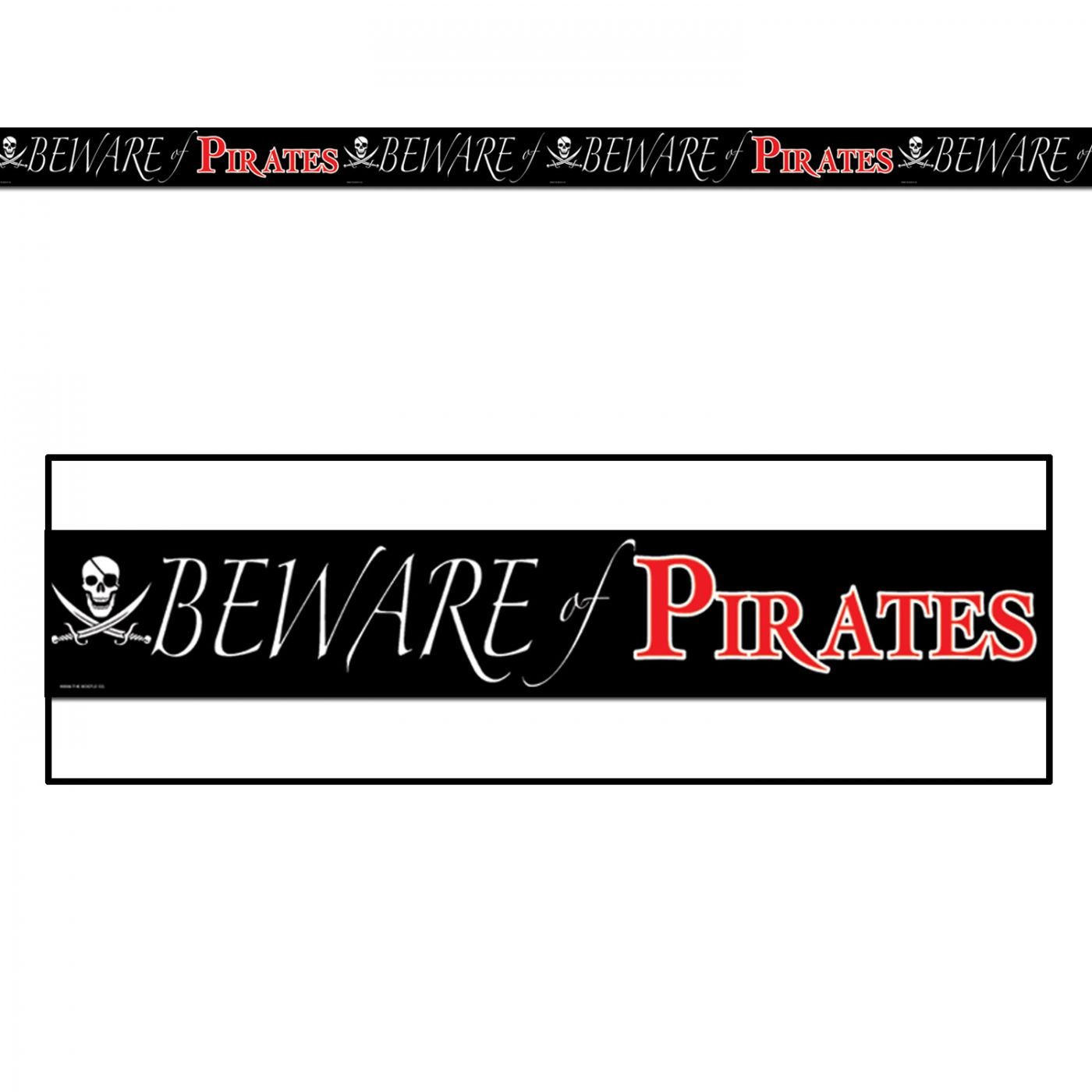 Beware Of Pirates Party Tape image