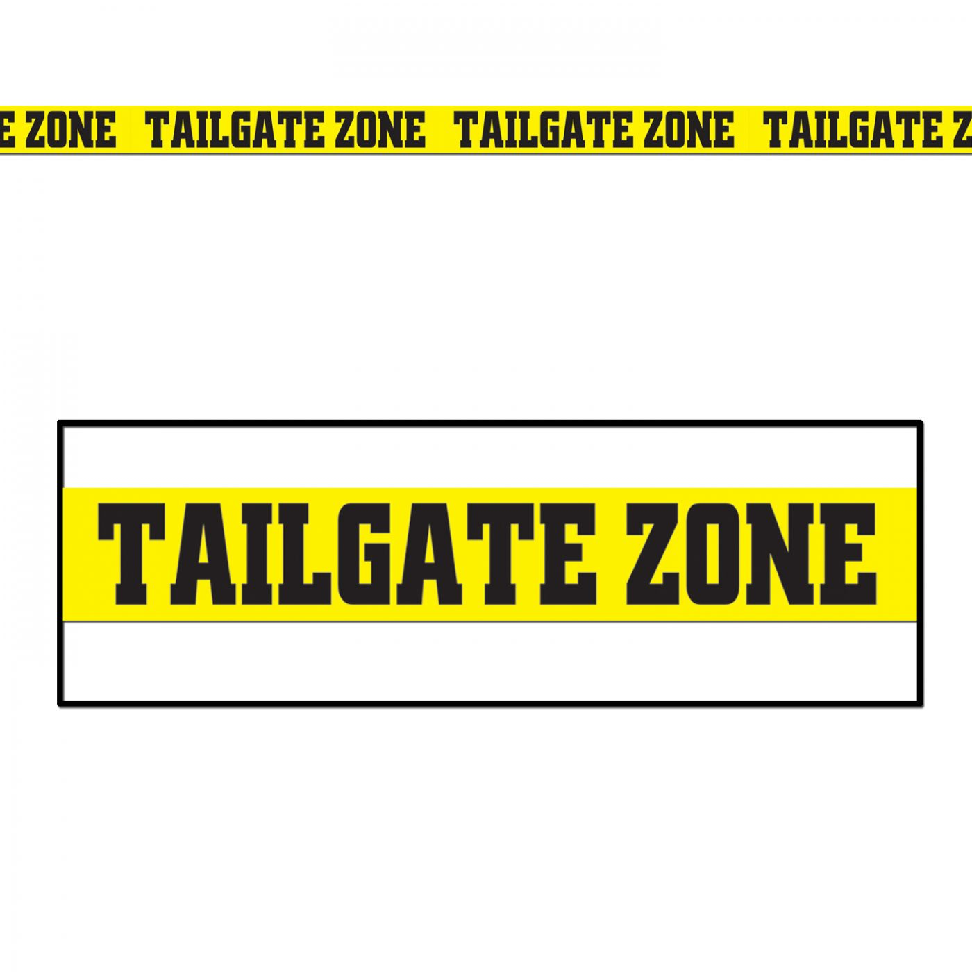 Tailgate Zone Party Tape image