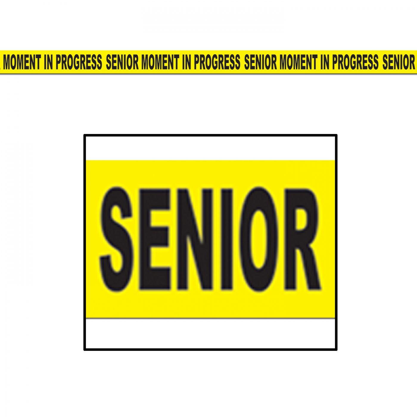 Senior Moment In Progress Party Tape image