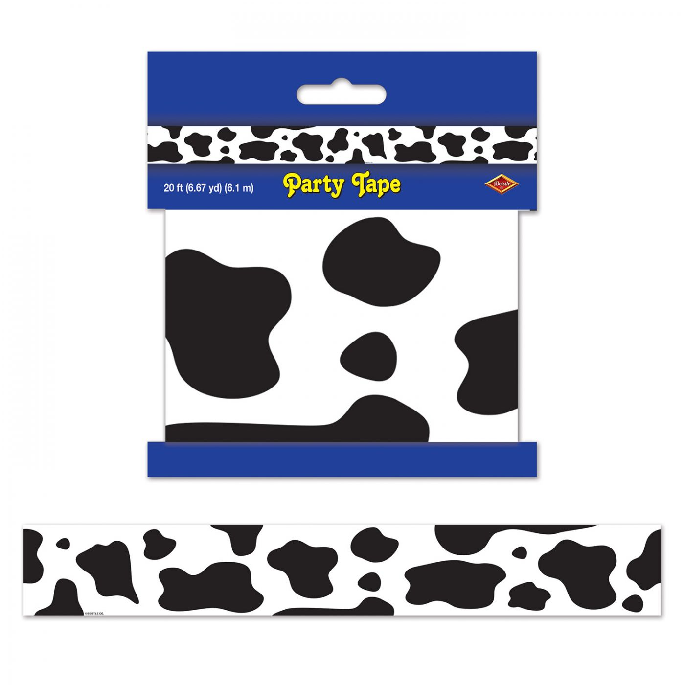 Cow Print Party Tape image