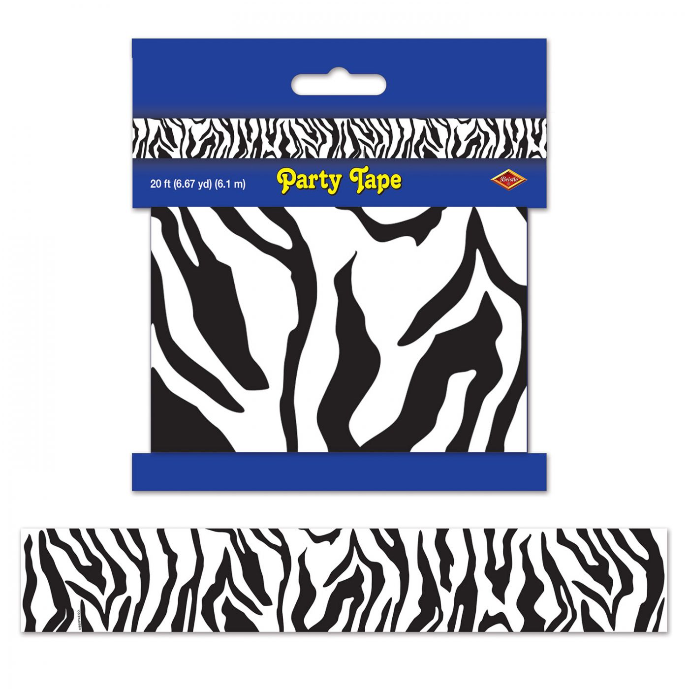 Zebra Print Party Tape image
