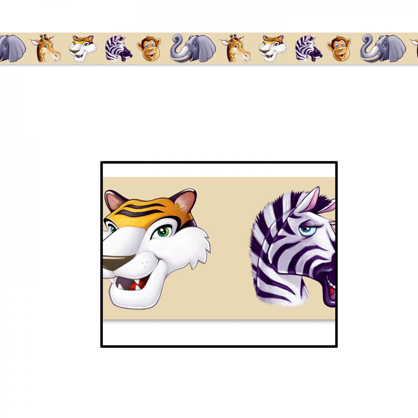 Jungle Animals Party Tape image