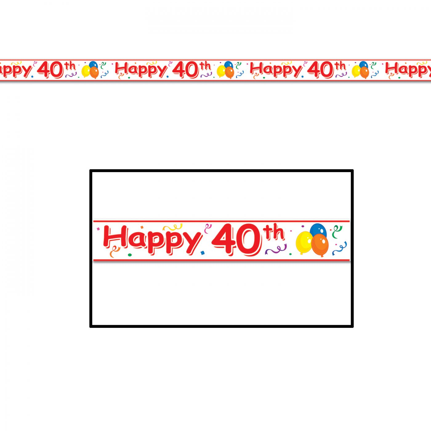 Happy  40th  Birthday Party Tape image