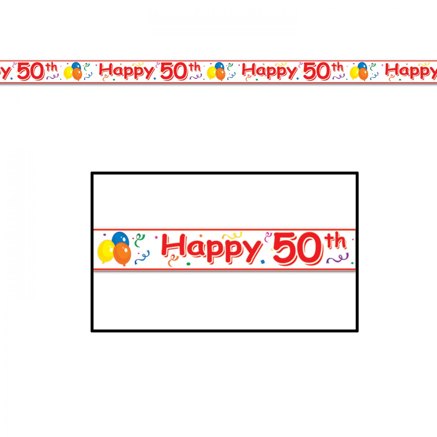 Happy  50th  Birthday Party Tape image