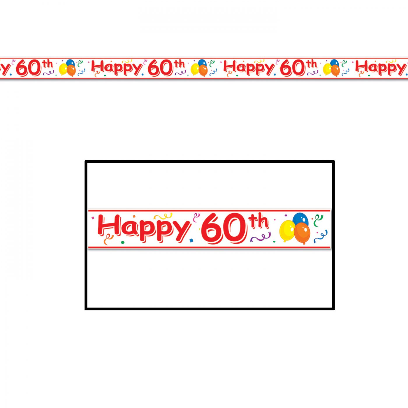 Happy  60th  Birthday Party Tape image