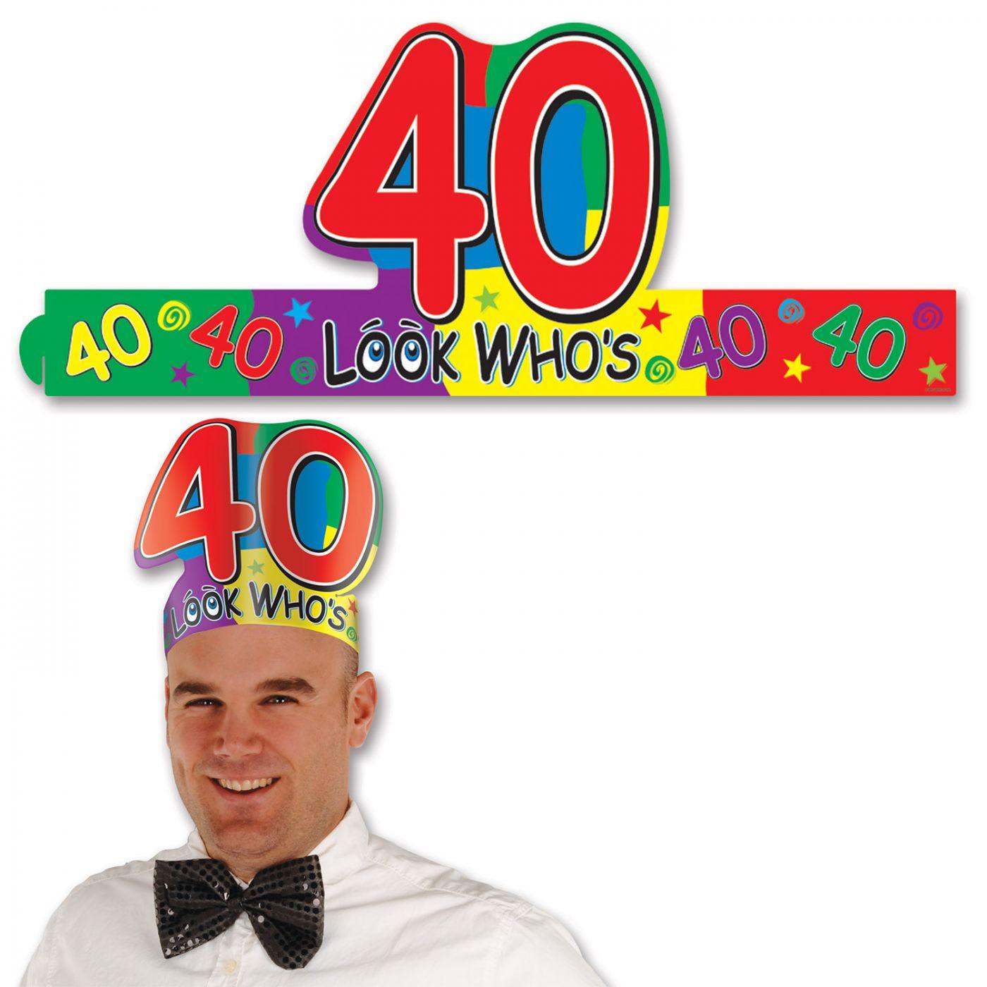 Look Who's  40  Headband (24) image